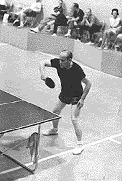 Si at a tournament, many Ping-Pong games ago.