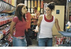 Gym dandies: Vanessa Lengies (left) and Missy Peregrym are rival gymnasts in Stick It.