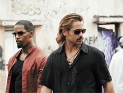 We&#039;re not in TV Land anymore: Jamie Foxx and Colin Farrell star as detectives Tubbs and Crockett in Miami Vice.