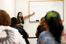 Lilly Romo teaches Latinos, undocumented or not, how to speak English.