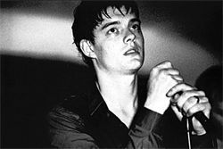 Gloomy ghost: Sam Riley as doomed Joy Division singer Ian Curtis in Control.