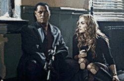 Cops rocked: Laurence Fishburne and Drea De Matteo dodge bullets in the unsatisfying remake of Assault on Precinct 13.
