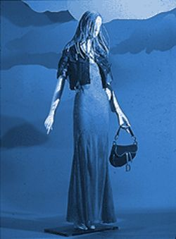 Westward Ho! John Galliano created this dress, jacket  and handbag for Christian Dior in silk, cotton and  leather.