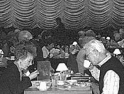The crowd is half the fun of dining at Broadway Palm Dinner Theatre.