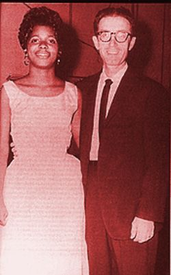 Singer Carla Thomas with Stax founder Jim Stewart.