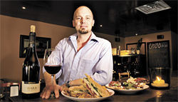 Man of the house: Chef-owner Chris Cottingham serves up tasty panini and fine wines at Centro Paninoteca.