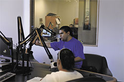 Tony Arias debates immigration policy on the air.