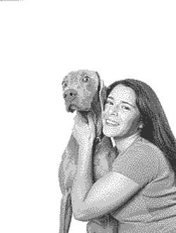 Jessica Florez with her dog, Jade.