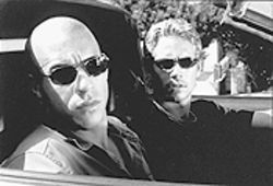 Diesel power: Dominic (Vin Diesel, left) and Brian (Paul Walker) are, you guessed it, The Fast and the Furious young men on the streets of L.A.