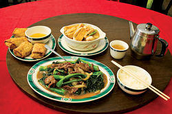 The no-frills Chinese fare at Wahsun Restaurant.
