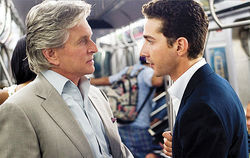 Greedy bastards: Michael Douglas and Shia LaBeouf in Wall Street: Money Never Sleeps.