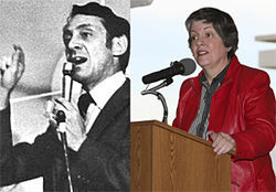 Harvey Milk (left), profile in courage, and Governor Janet Napolitano, profile in cowardice.