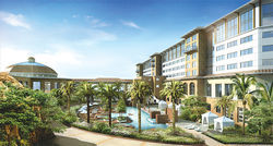 An artist's rendering of the resort-style casino the Tohono O'odham want to build in the West Valley.