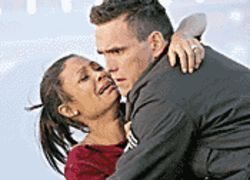 A tangled web: Are Thandie Newton and Matt Dillon heroes or villains? Crash lets the viewer decide.