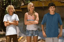 Give a Hoot: From left, Cody Linley, Brie Larson and Logan Lerman try to save a group of owls in this kid flick.