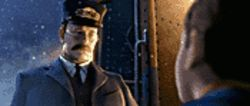 Down cold: Tom Hanks provides the voice of the train conductor, as well as four other characters, in The Polar Express.