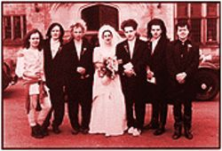 Yeah, but who wore more makeup  --  Mr. or Mrs. Robert Smith? The wedding, in 1988.