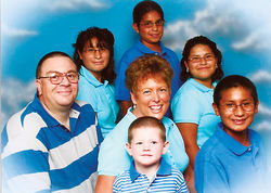 Brian and Terri Turner and their five children