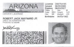 Maynard presented his driver's license to obtain the $16,000 casino marker.