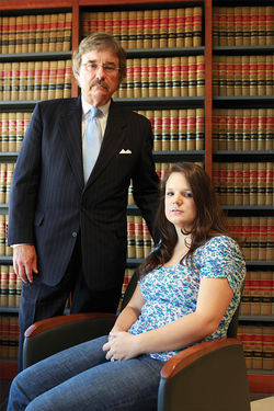 Attorney Mike Manning  and client Jennylee Braillard
