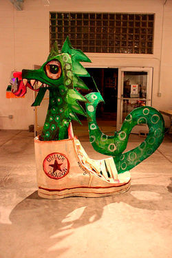 Chuck Dragon by Iggy + The YMCA and Lincoln Family at Bragg's Pie Factory.