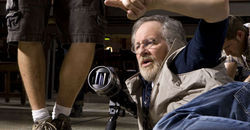 Steven Spielberg in action