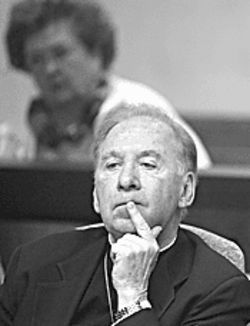 Bishop Thomas J. O'Brien in court.