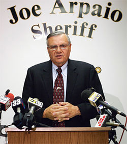 Despite his assaults on the First Amendment, Sheriff Joe Arpaio insists he's the victim in the New Times matter.