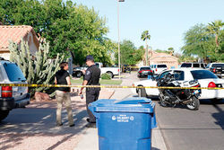 From the crime scene in Gilbert.