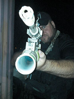 Ready, from a photo posted to the Flickr page for his vigilante group U.S. Border Guard.