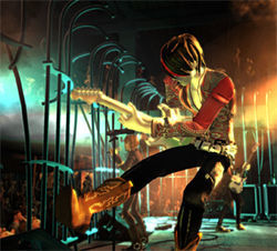 Got game? Practice your guitar kicks and licks in Rock Band.