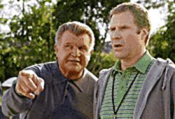 Bear down: Mike Ditka (as himself) instructs Will Ferrell in the finer points of coaching in Kicking & Screaming.