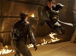 Mummy dearest: Brendan Fraser and Jet Li throw down in The Mummy: Tomb of the Dragon Emperor.