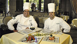 "Wright's chefs Michael Cairns (left) and Matt Alleshouse have plenty to smile about with their ""American Lodge Cuisine."""