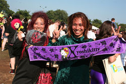 X Japan loyalists invade Lollapalooza.