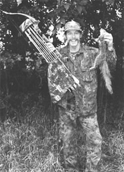Yamamoto's hero: Motor City Madman and hunting enthusiast Ted Nugent likes to hunt with bow and arrow.