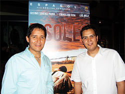 Director Pedro Ultreras (left) and Phoenix actor Luis Avila (several pounds lighter) at a recent screening of Ultreras&#039; gripping film, 7 Soles.