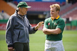 Clint Eastwood directs Matt Damon in Invictus.